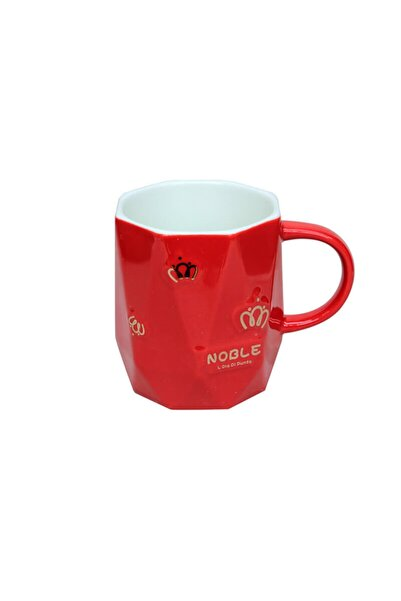 MNK Home Kırmızı Prizma Kupa C0511