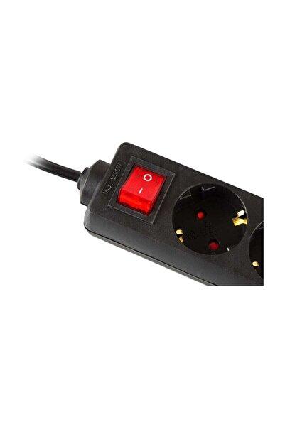 S-LINK Spg8-3-30 3m 3lü Akım Kor.kutu Siyah Priz