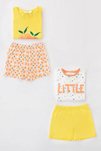 Penti Çok Renkli Kız Çocuk Little Fruits Ss 4Lu Pijama Takımı