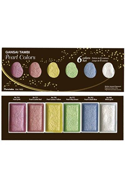 Zig Kuretake Gansaı Tambı Pearl Colors Suluboya 6 Renk