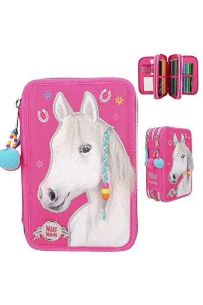 Top Model Miss Melody Triple Pencil Case Pink 3 Katlı Dolu Kalem Kutu