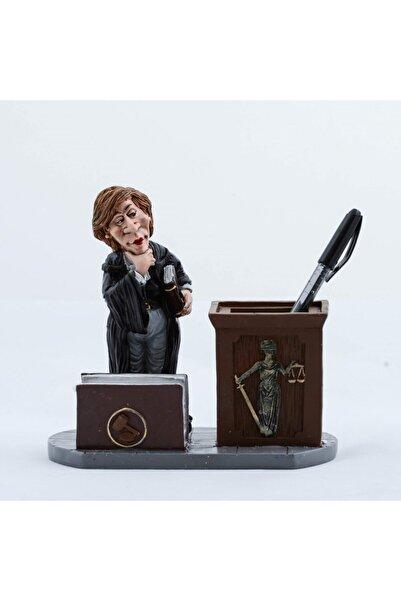 hediye sandalı Polyester Avukat Modelli Kartlıklı Kalemlik