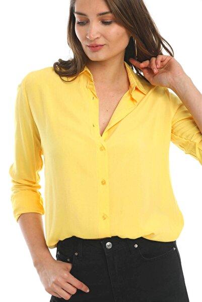 Mossta Kadın Sarı Gömlek