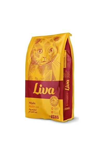 Liva Yetişkin Tavuklu Kedi Maması 15 Kg