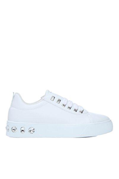 KEMAL TANCA Kadın Beyaz Triko Sneakers ve Spor Ayakkabı 817 80 Byn Ayk Y21