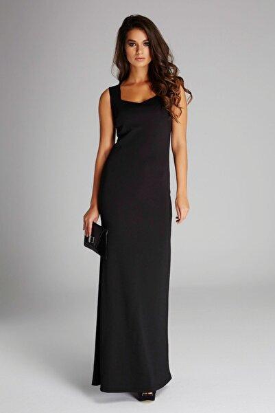 Laranor Kadın Siyah Yaka Detaylı Abiye Elbise 14L4113-L