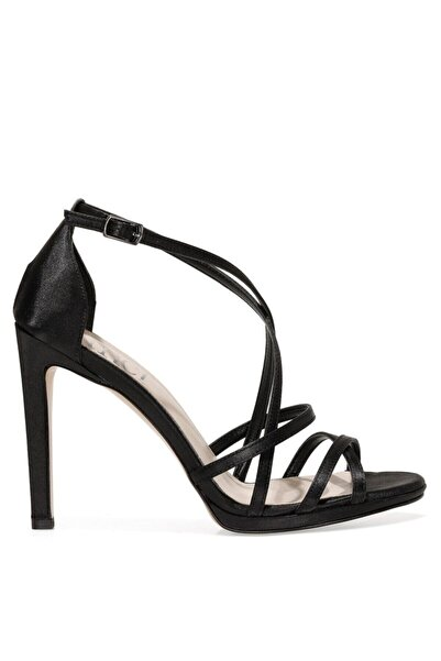 İnci SATIN.Z 1FX Siyah Kadın Topuklu Sandalet 101038374