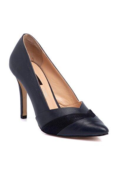 Tergan Kadın Lacivert Deri Ayakkabı 65663a31