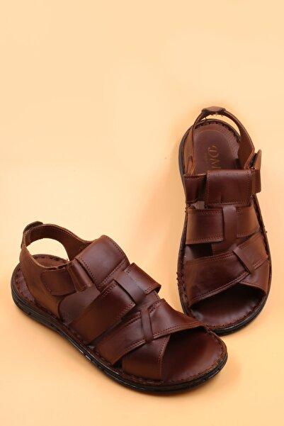 Moda İkiz Erkek Hakiki Deri  Sandalet