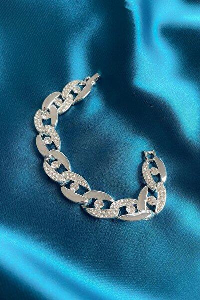 Modex Gümüş Rengi Kristal Taşlı Bileklik