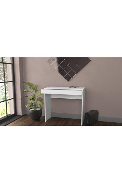 Bicabin Arya Novella Mode Çekmeceli Beyaz Makyaj Masası/dresuar/çalışma Masası