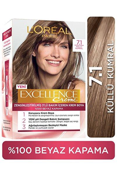 L'Oreal Paris Excellence Creme Saç Boyası 7.1 Kumral Küllü