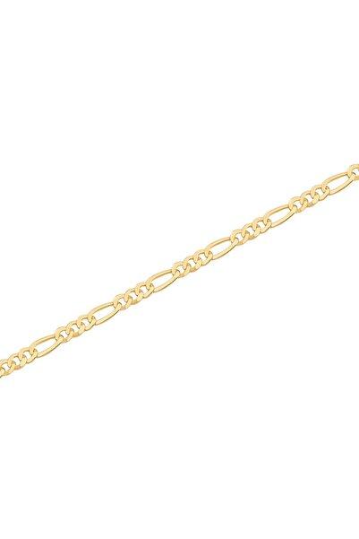 Diamond Line-Gülaylar Erkek Sarı Altın 14 Ayar Bileklik