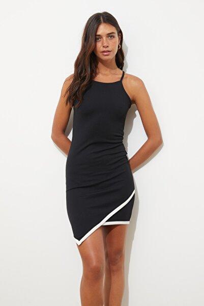 TRENDYOLMİLLA Siyah Askılı Örme Elbise TWOSS20EL3039