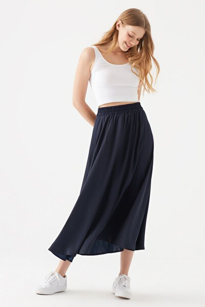 Mavi Kadın Uzun Lacivert Etek 131132-33648