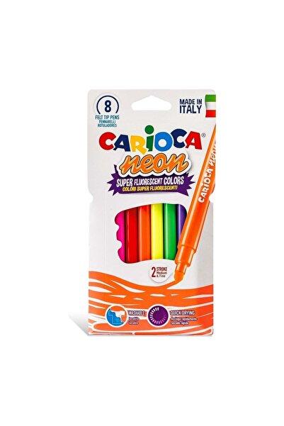 CARIOCA Fosforlu Yıkanabilir Keçeli Boya Kalemi 8'li