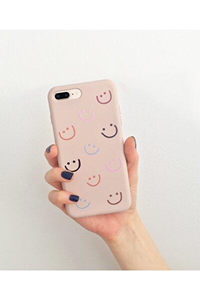 Telefon Aksesuarları Iphone 7 Plus/8 Plus Smile Desenli Özel Tasarım Telefon Kılıfı