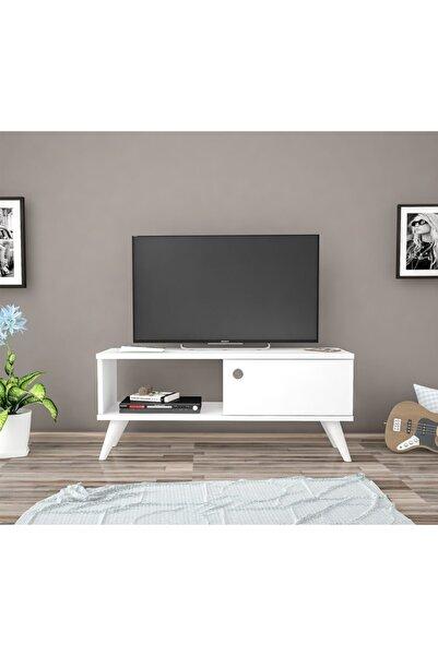 Ankara Mobilya Bena Mobilya Efe Beyaz 90 Cm Tv Sehpası