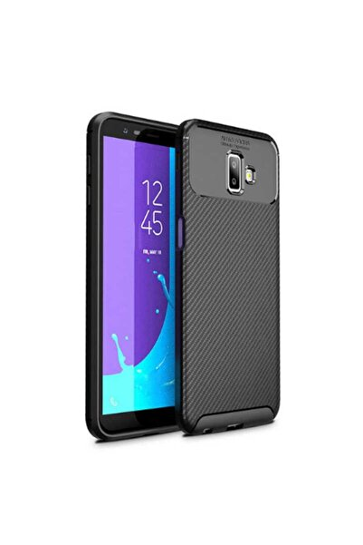 Samsung Galaxy J6 Plus Kılıf Rugged Armor Karbon Desenli Yüksek Kalite Silikon Negro