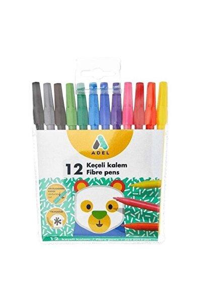 Adel Keçeli Boya Kalemi 12 Renk Su Bazlı 3 Yaş