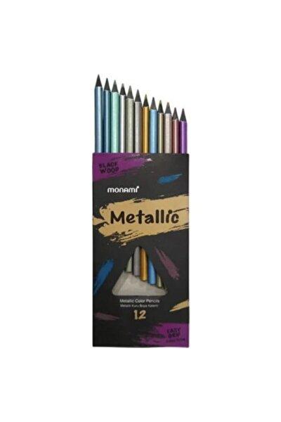 Monami Metalik 12'li Kuru Boya Kalemi