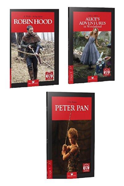 MK Publications Ingilizce 3 Adet Hikaye - 1. Seviye ( Robin Hood, Alice In Wonderland, Peter Pan ) A.1 - Stage -1