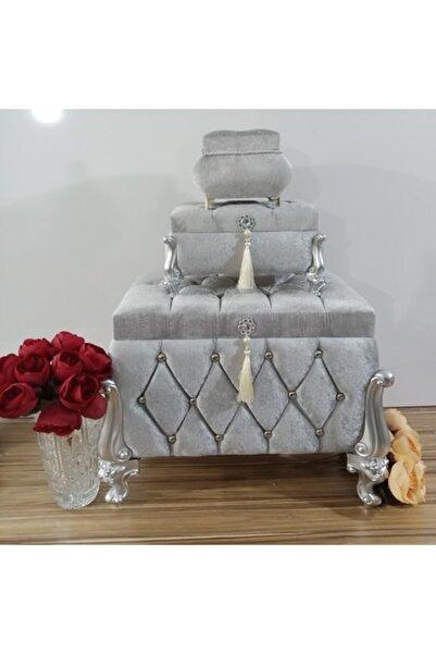 Sonem Çeyiz Söz Nişan Bohça Gelin Düğün Damat Çeyiz Sandığı 3lü 0614g