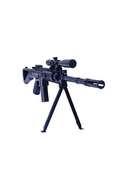 e-life Gerçek Görünümlü Lazerli Ayaklı Şarjörlü Boncuk Atan Sniper Keskin Oyuncak Tüfek Es739