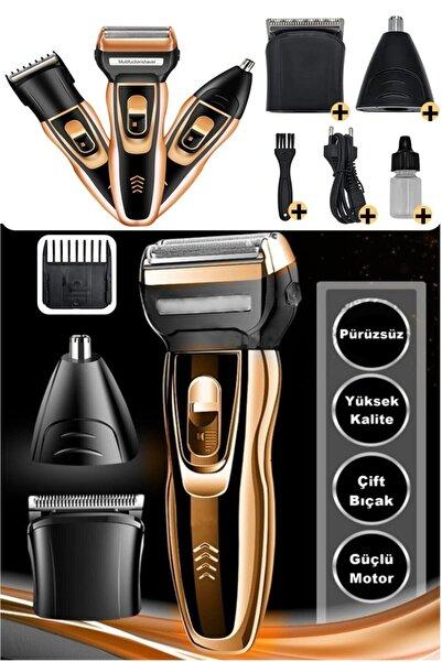 yopigo Yp 2020 Turbo Pro X Galaxy Gold 3 In 1 Erkek Bakım Seti Saç Sakal Burun Tıraş Makinesi
