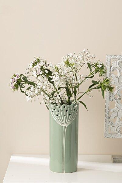 English Home Dandelion Vazo 9.4x9.4x22.8 Cm Yeşil