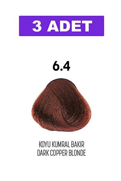 Bioplex 6.4 / Koyu Kumral Bakır - Dark Copper Blonde / Glamlook Profes. Saç Boyası 3 Adet
