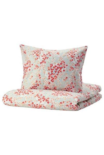IKEA Tek Kişilik Nevresim Takımı, Çiçek Desenli Meridyendukkan 150x200/50x60 Cm %100 Pamuk