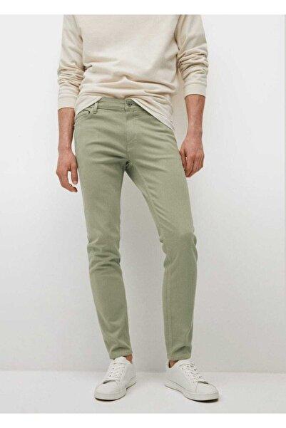 MANGO Man Erkek Yeşil Skinny Jean Pantolon
