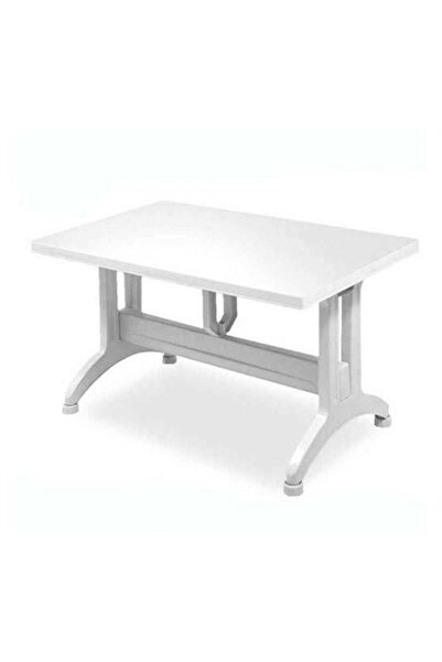 3A Mobilya Gardelia Plastik Masa - 80x140 Cm Sabit Ayaklı Plastik Masa, Bahçe Masası, Balkon Masası