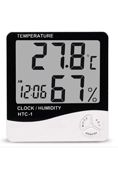 Elektronikport Htc-1 Dijital Termometre Sıcaklık Ve Nem Ölçer Masa Saati Alarm