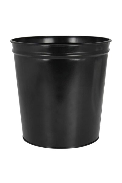Mimaks Çöp Kovası Metal Siyah D-1