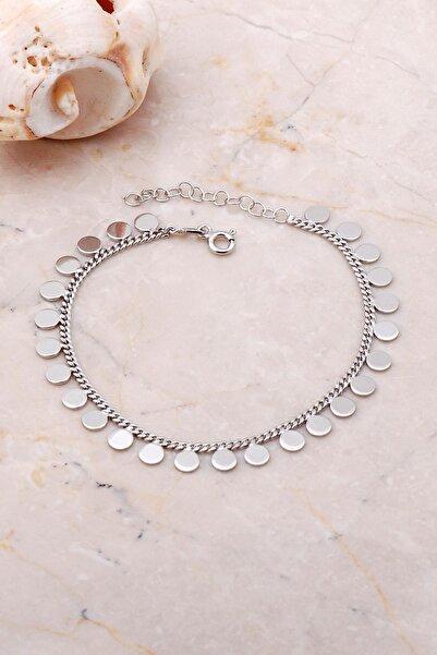 Sümer Telkari Pullu Gurmet Rodyumlu Gümüş Bileklik 3664