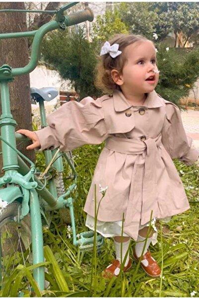 Le Mabelle Kız Çocuk Bej Kemerli Ceket