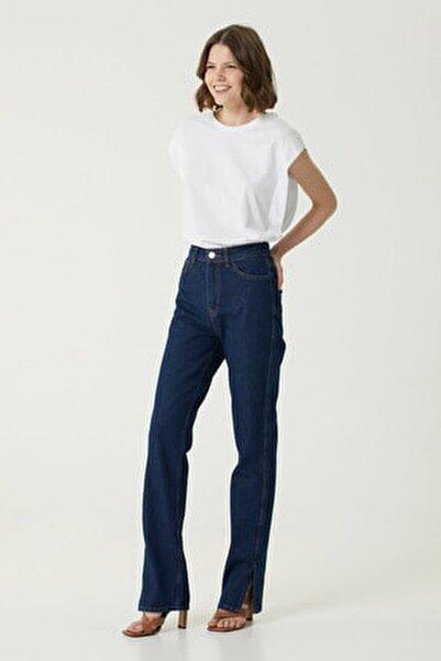 Kadın Straight Fit Lacivert Jean Pantolon 1078442