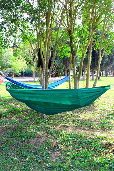 Bundera Kamp Hamağı Piknik Hamağı Bahçe Balkon Outdoor Kamp Salıncak Hamak Yeşil