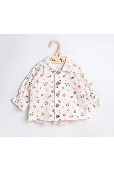 Le Mabelle Kız Çocuk Beyaz Çiçek Tül Detaylı Ceket