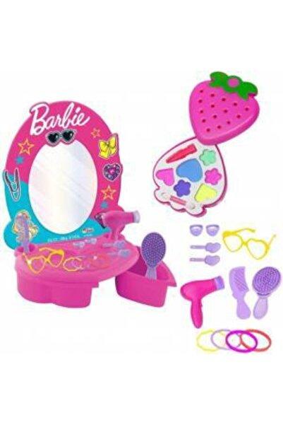 Barbie Güzellik Seti + Makyaj Seti Evcilik Oyuncak Kız Çocuk Oyuncak Depomiks