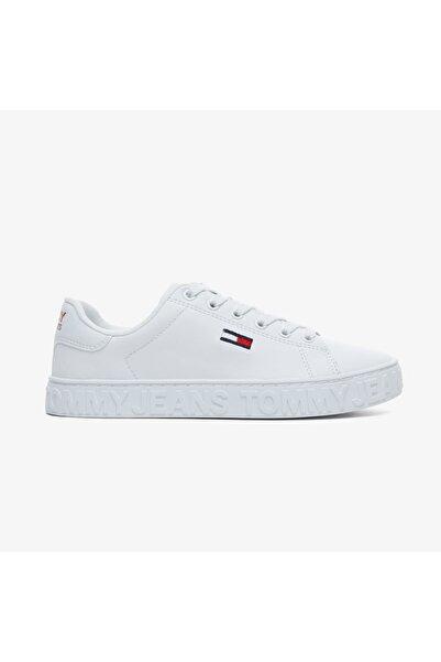Tommy Hilfiger Kadın  Cool Tommy Jeans Beyaz Spor Ayakkabı