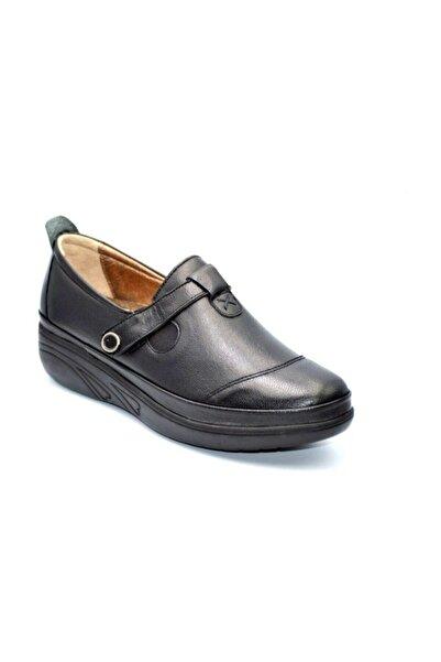 Biolife Kadın 1102 Siyah Anatomik Deri Ayakkabı
