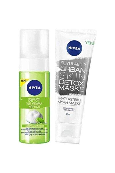 Nivea Urban Skin Detox Yüz Yıkama Köpüğü 150ml+detox Maske 75ml