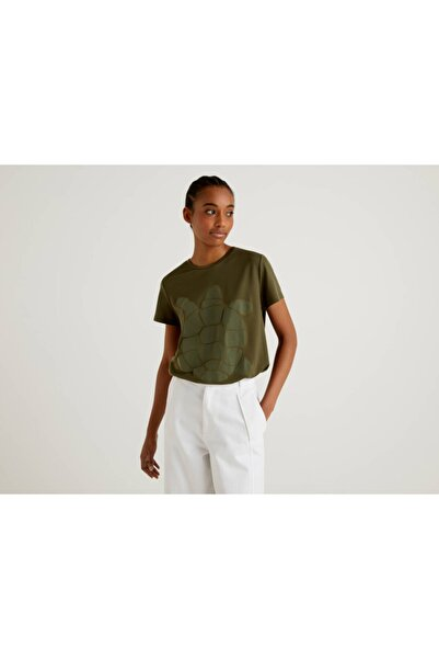 United Colors of Benetton Caretta Baskılı Tshirt