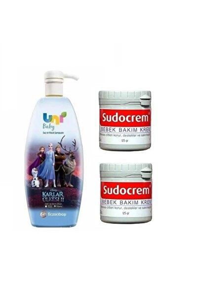Sudocrem Unıbaby Frozen Şampuan 700 m- Bebek Bakım Kremi 125 gr*2