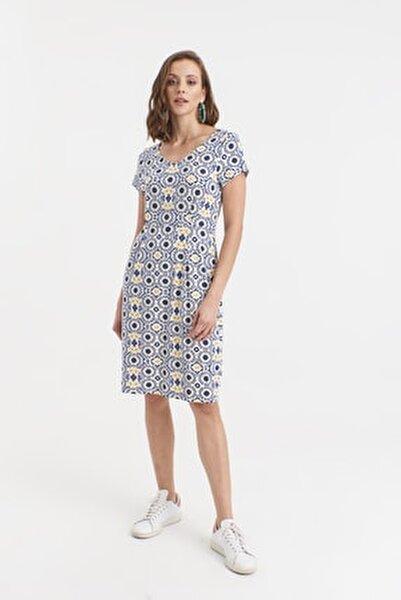V Yakalı Örme Elbise