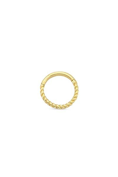 Altın Sepeti Kadın Sarı Altın Burgulu Halka Conch Piercing