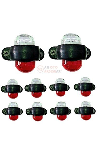 ar oto aksesuar Mini Takoz Led Lamba 10 Adet 12-24 Volt Uyumlu